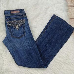 Flying Monkey Rhinestone Embellish Jeans Size 5